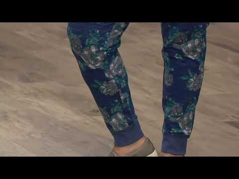 Denim & Co. Active Floral Print French Terry Jogger Pants on QVC