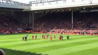 pre-Man City at Anfield: YNWA & a minute of silence