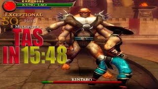 [TAS] Mortal Kombat Shaolin Monks KUNG LAO | IN 15:48 (PS2)