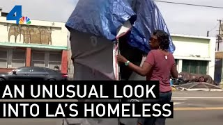 An Unusual Look into LA's Homeless | NewsConference | NBCLA