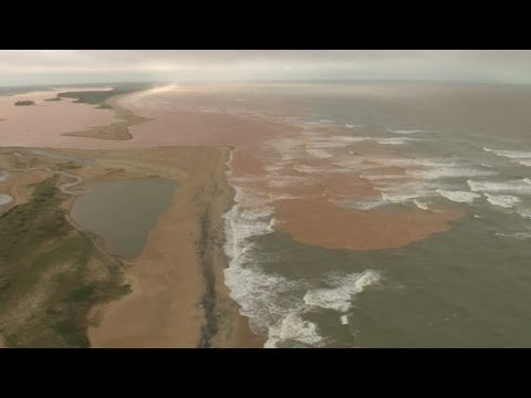 Mud from the Brazilian dam disaster reaches the coastline