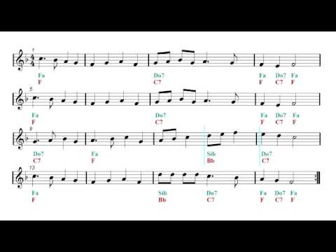 Beguine - Latin Remix - Backing track - Deck The Halls (Sheet music - Guitar chords)