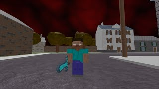 HEROBRINE IN ROBLOX CITY!!!!
