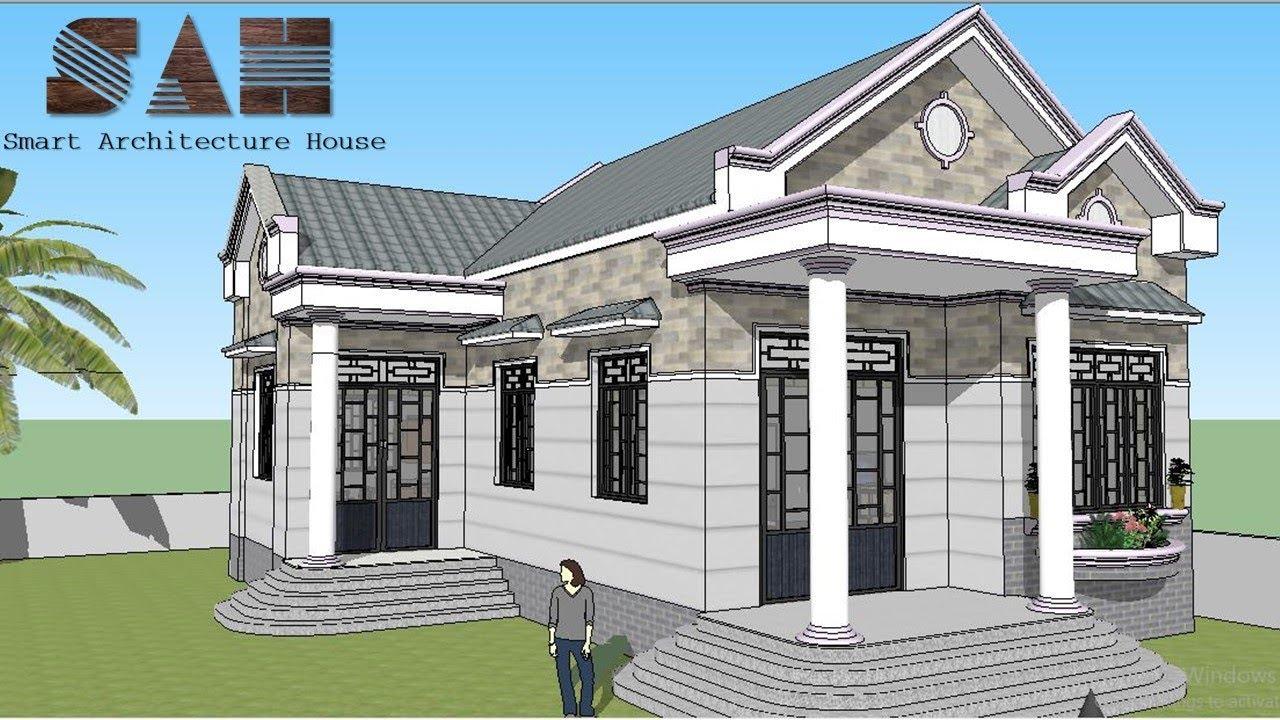 XEM LÀ MÊ – Nhà cấp 4 đẹp nhất trong mức giá , Nhà cấp 4 đơn giản giá rẻ 3D | #SAH