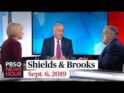 Shields and Brooks on Democrats' climate plans, Trump's Dorian claim