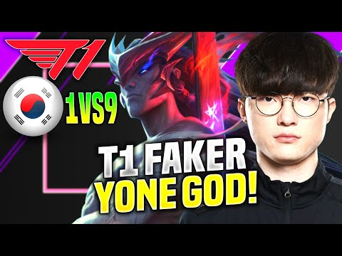 FAKER YONE LITERALLY GOD PERFORMANCE! - T1 Faker Plays Yone Mid vs Ahri! | KR SoloQ Patch 10.19