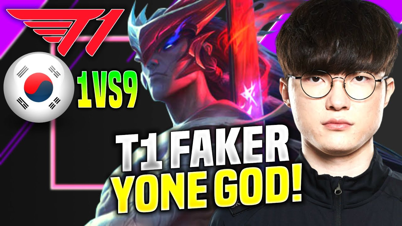 FAKER YONE LITERALLY GOD PERFORMANCE! - T1 Faker Plays Yone Mid vs Ahri! | KR SoloQ Patch 10.19