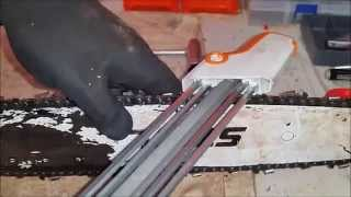 Using the Stihl 2in1 File Guide