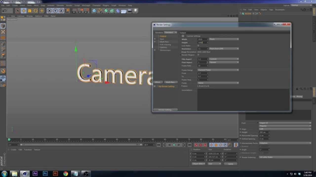 Tutorial : C4D Camera Animation Techniques