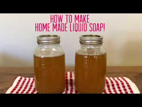 How To Save Money - Making Liquid Castile Soap! Diary #1