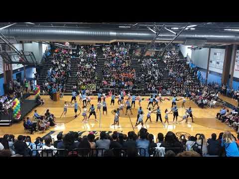 Belleville East Football Players and Cheerleaders Dance