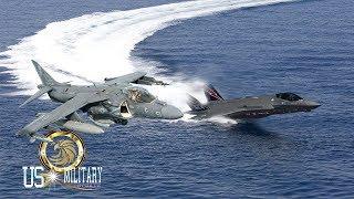 Amazing Battle : F-35B vs AV-8B Harrier II Short Takeoff & Vertical Landing