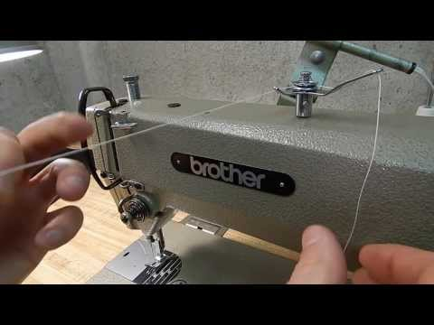How to Thread Brother  Threading Industrial Sewing Machine DB2-B735