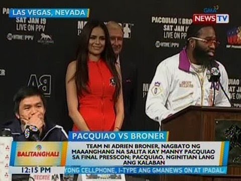 Team Pacquiao, Team Broner spat in presscon before bout