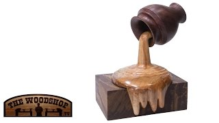 Woodturning Project Dripping Wood Honeypot