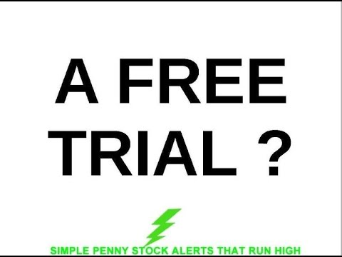 A Free Trial ? Day Trading Penny Stocks And Stock Trading