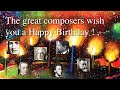 Happy Birthday Songs Arrangements By Werner Elmker Inspired By Great Composers HQ mp3