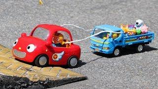 뽀로로 트럭 자동차 버스 장난감 썰매끌기 놀이 견인차 무선조종 R/C카 유치원버스 운전놀이 R/C Truck and Bus Car Toys