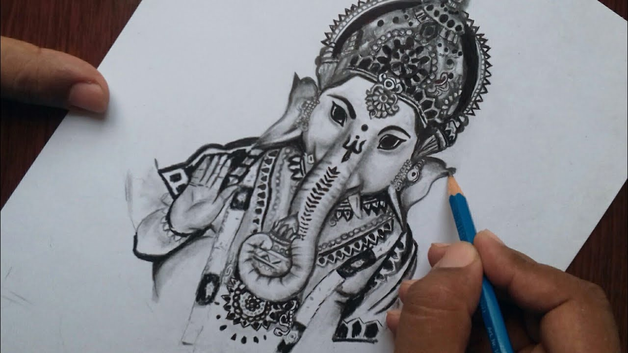 God Ganesha Drawing For Beginners Easy Ganesh Chaturthi Special Drawing Youtube