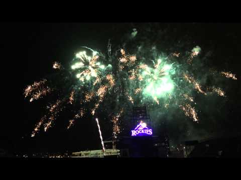 Fireworks at Coors Field July 4th 2014