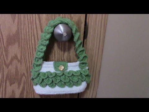 โครเชต์กระเป๋าลายเกล็ดจระเข้ ( How to Crochet Crocodile stitch Handbag Purse)