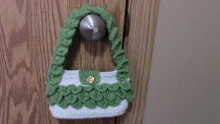 Repeat youtube video โครเชต์กระเป๋าลายเกล็ดจระเข้ ( How to Crochet Crocodile stitch Handbag Purse)