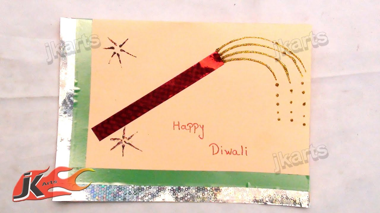Art And Craft Ideas For Making Greeting Cards Part - 25: DIY Easy Diwali Greeting Card | How To Make | School Project For Kids | JK  Arts161 - YouTube