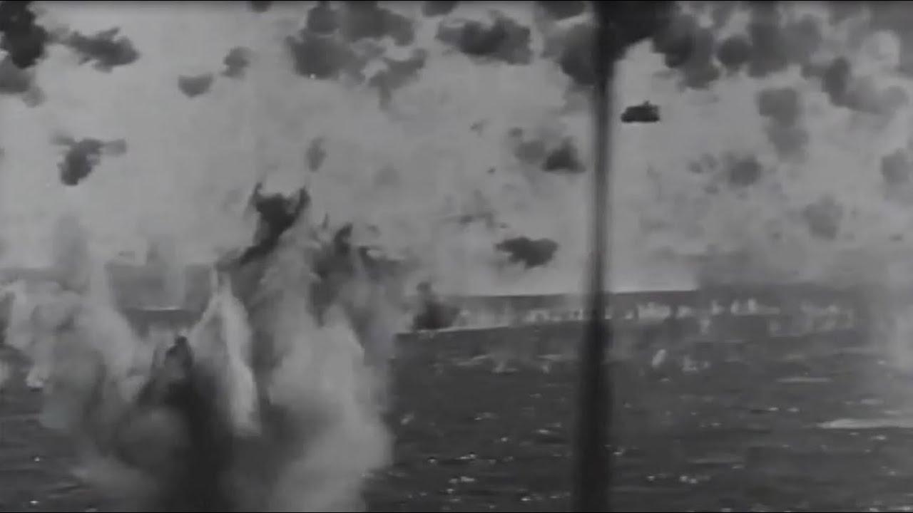 okinawa japanese kamikaze attack on us navy fleet ww2 footage april