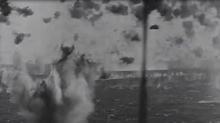 Okinawa Japanese Kamikaze Attack on US Navy Fleet WW2 Footage April 1945