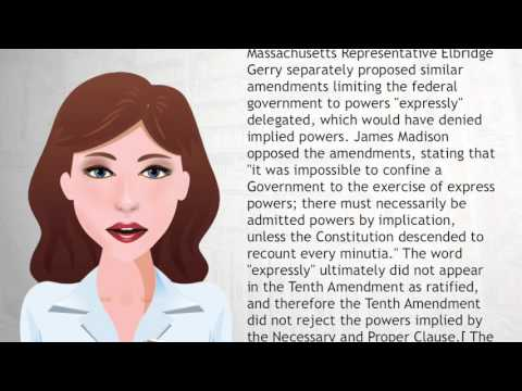 Tenth Amendment to the United States Constitution - Wiki Videos