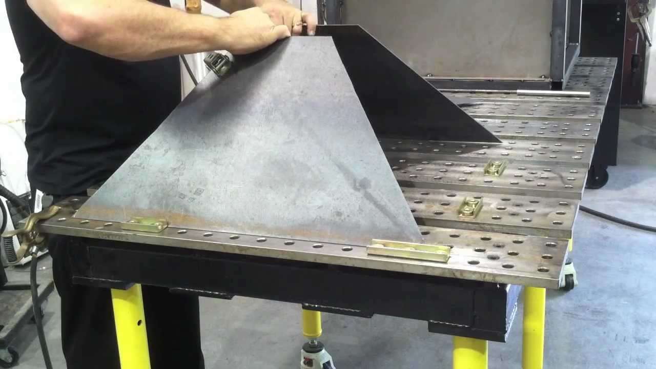 Plasma Cutting Table Diy Downdraft Using Stronghand Tools Part1 You