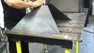 Plasma Cutting Table - DIY Downdraft Table using StrongHand Tools part1