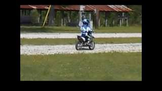 3 year old rippin it on a dirt bike Johnny Lee Tucker
