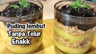 PUDING LEMBUT COKLAT SUSU | MUDAH & SIMPEL .