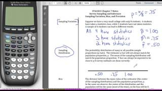 STA2023 Chapter 7 Video 3 Sampling Variation the Sampling Distribution