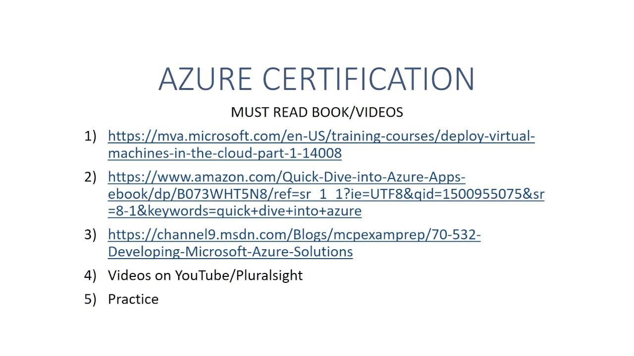Azure Certification Youtube
