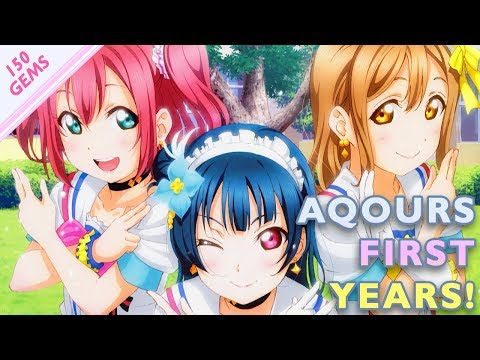 AQOURS FIRST YEARS SCOUT! (150 Gems, 3 SR+ Tickets) // Love Live! SIF