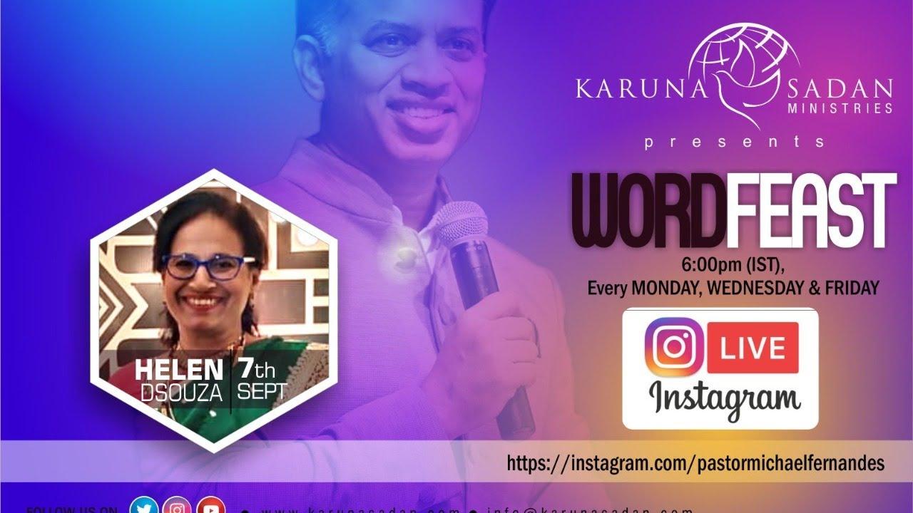 20200907 | Word Feast | Sister Helen Dsouza | @KarunaSadanMinistries