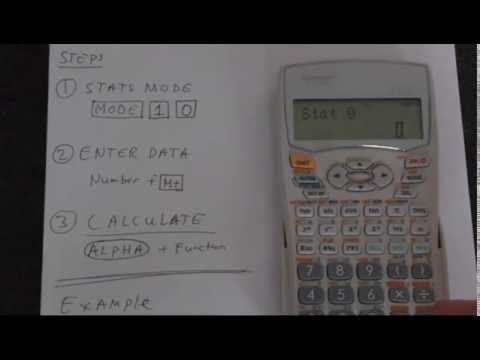 How To Calculate Standard Deviation Using A Sharp EL 531WH