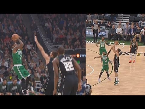 Kyrie Irving Shows Brook Lopez He Can't Be Guarded With Crazy Fadeaway Shot Then Lopez Gets Revenge!