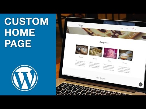 Creating a WordPress Home Page