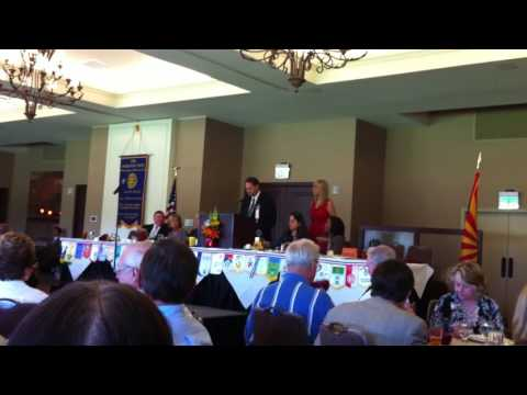 Phoenix Rotary 100 new member introduction of matchmaker & Navy veteran Roseann Higgins