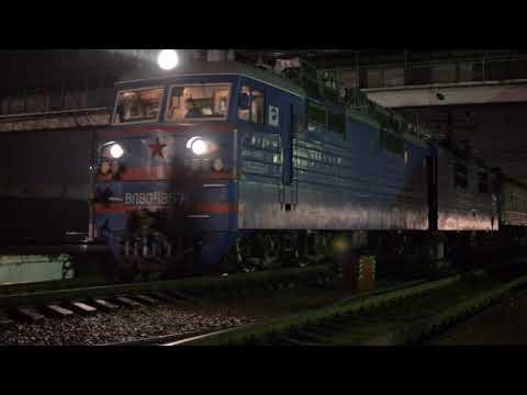 ВЛ80С-1857 прибывает на станцию Чу, Казахстан, 05.12.13г.