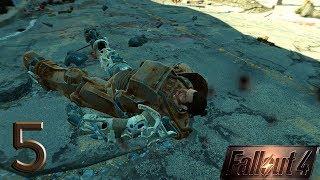 Fallout 4 прохождение на геймпаде часть 5 Неудачная битва с монстром