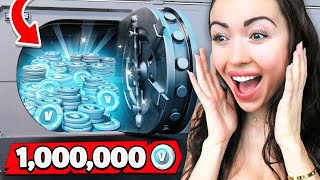One MILLION V-Bucks Challenge vs My Girlfriend!