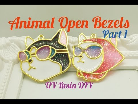 UV Resin DIY Animal Open Bezels Part 1