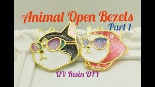 UV Resin DIY Animal Open Bezels Part 1
