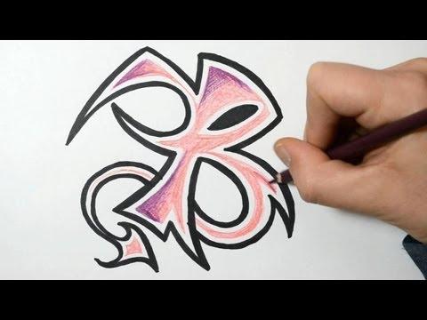 How to Draw Wild Graffiti Letters - B
