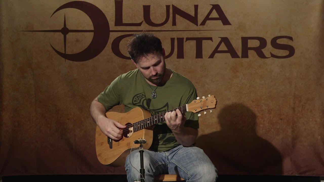 bcab3fceb8 Safari Bamboo Travel Guitar by Luna Guitars - YouTube