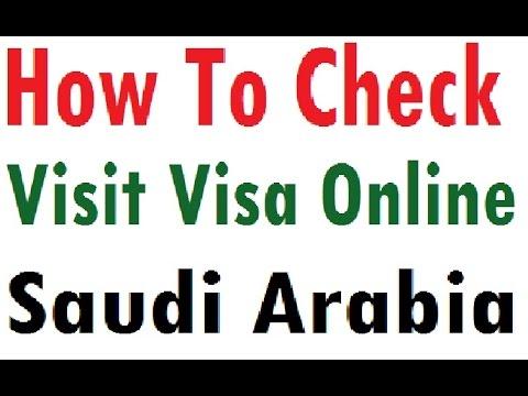 Check Family Visit Visa Online -Saudi Arabia